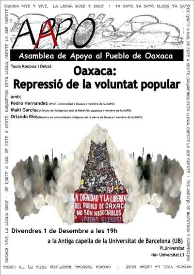 Debate sobre la represión en Oaxaca