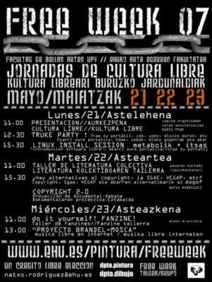 Free week: Jornadas de cultura libre