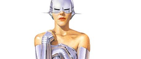 La srta cyborg al habla